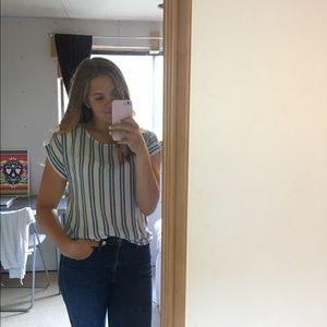Blue & White striped blouse